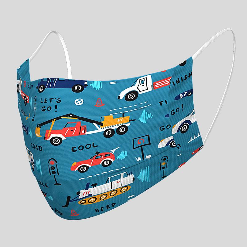 Kinder-Gesichtsmaske Auto-Motiv