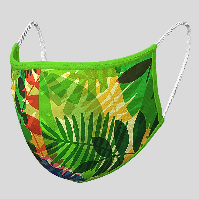 Fashion Textil-Gesichtsmaske Tropical