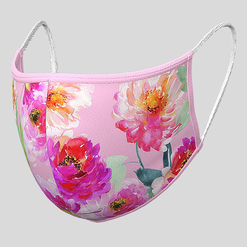 Fashion Textil-Gesichtsmaske Blumen-Blüten