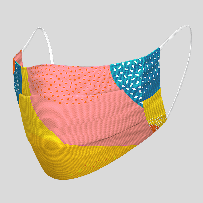 Fashion Textil-Gesichtsmaske ColorArt