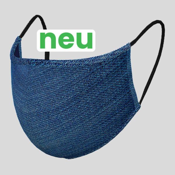 Gesichtsmaske Jeans mit HeiQ Viroblock
