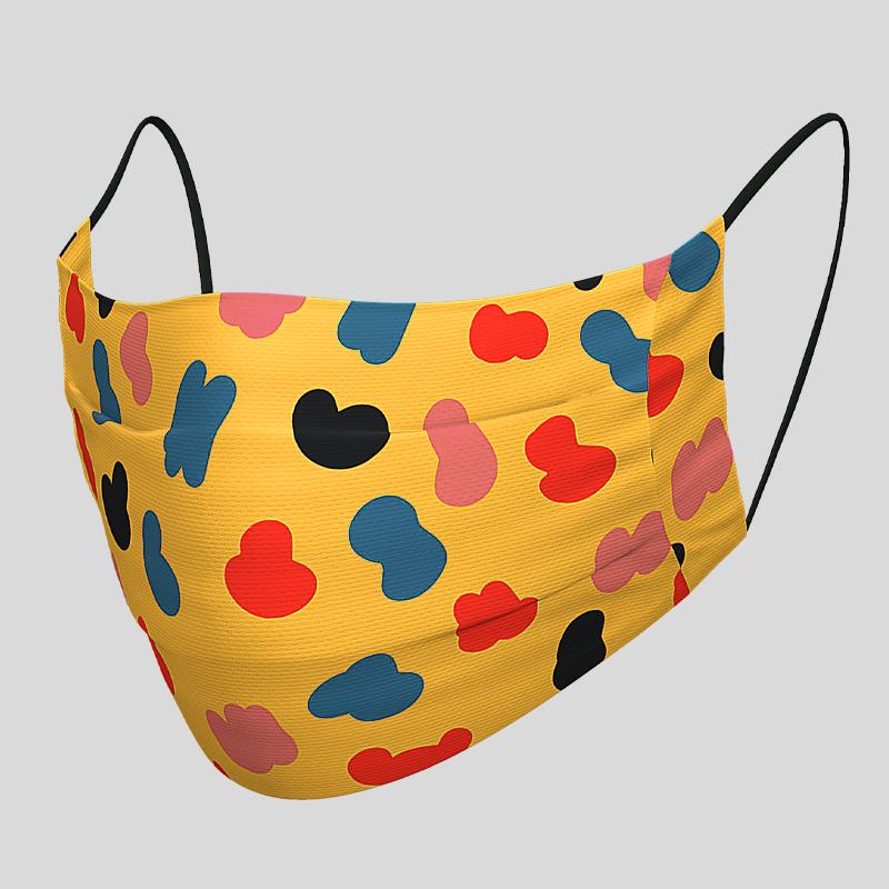 Fashion Textil-Gesichtsmaske Camouflage farbig